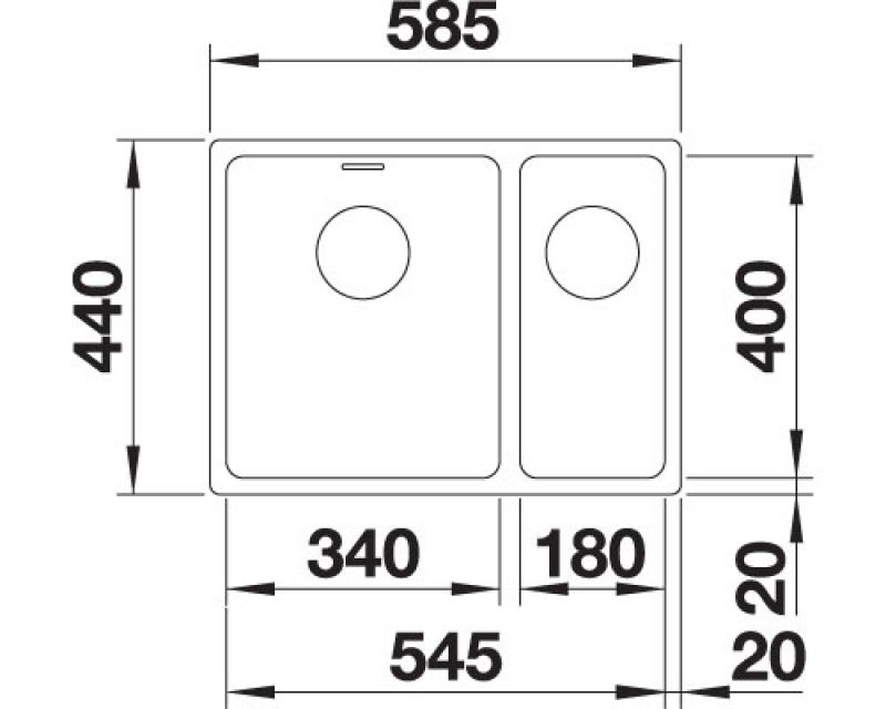kuchynsk drezy blanco andano 340 180 u infino prav digestory a pr slu enstvo do kuchyne. Black Bedroom Furniture Sets. Home Design Ideas