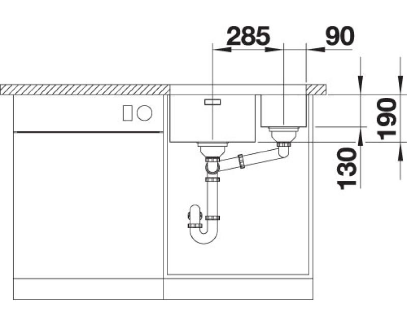 kuchynsk drezy blanco andano 340 180 u infino av digestory a pr slu enstvo do kuchyne. Black Bedroom Furniture Sets. Home Design Ideas